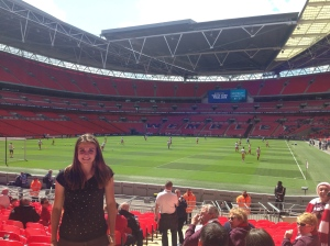 Natalie at Wembly Soccer Stadium