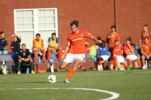 Scout playing a match with the Charlotte Eagles.