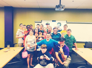 Chandler Cooper and the IDEAL students at Lipscomb University.