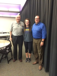 Three Northway Generations: Mr. Northway Senior, Riley, and her dad Mr. Northway