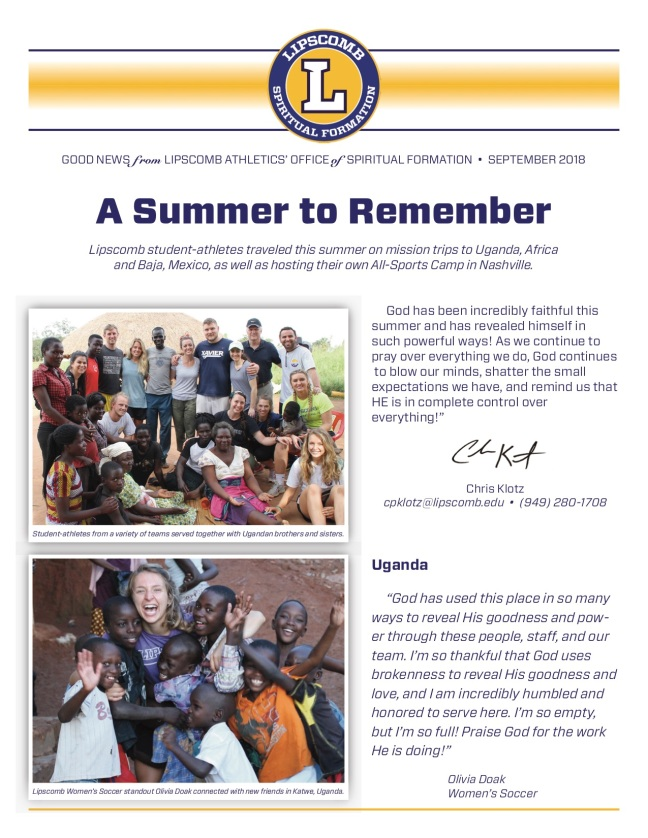 Sept 2018 Newsletter